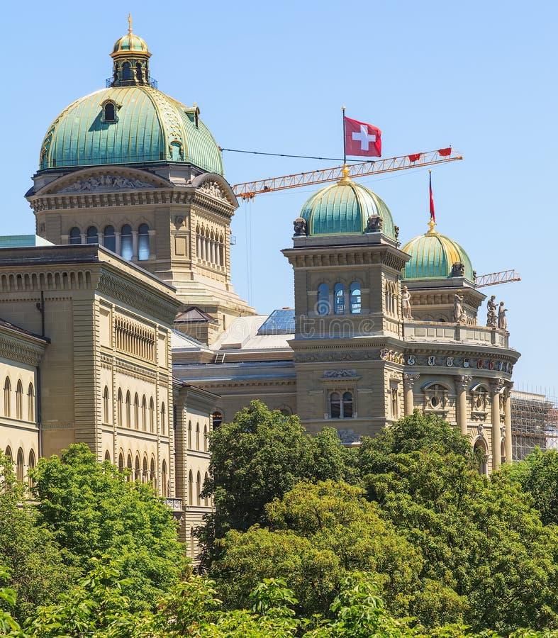 Federacyjny pałac budynek w Bern, Szwajcaria obraz stock