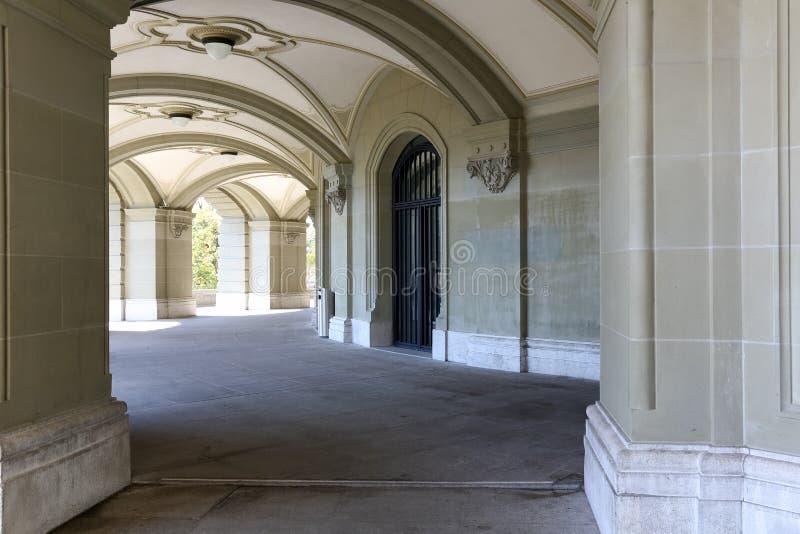 Federacyjny pałac i swój arkady fotografia royalty free