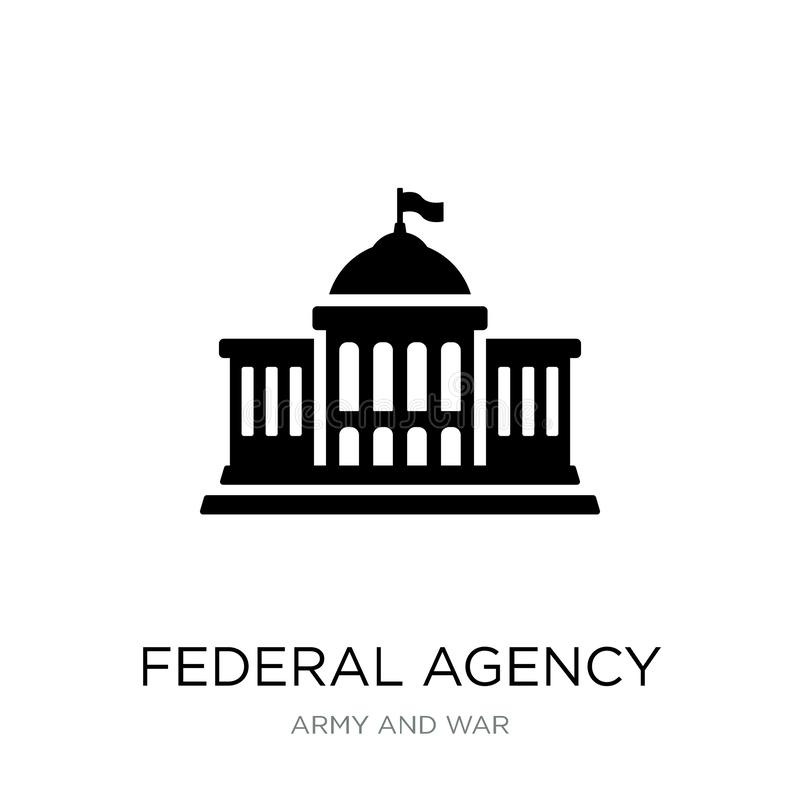 Federal agency icon in trendy design style. federal agency icon isolated on white background. federal agency vector icon simple. And modern flat symbol for web stock illustration