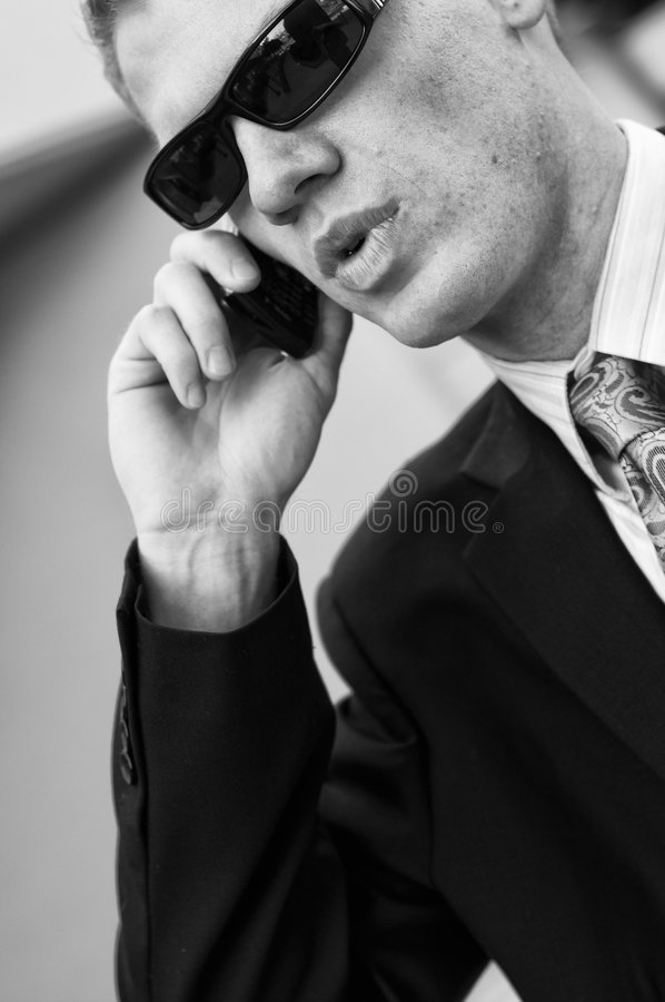 Download Federal Agent Receiving Information Stock Image - Image: 8886259