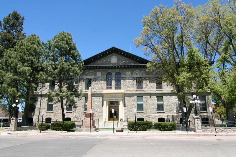 Federal Courthouse - Santa Fe. The historic Federal Courthouse of Santa Fe, New Mexico. The design is a mixture of Greek Revival and Romanesque style. The stock images