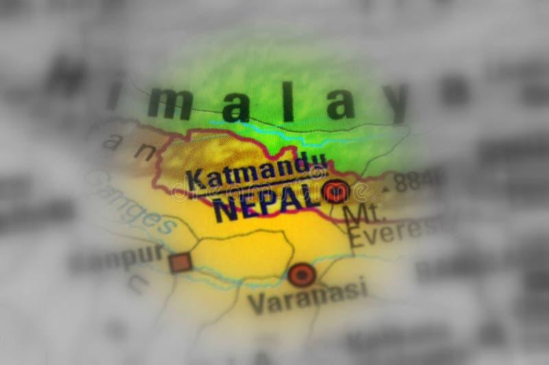 Federal Democratic Republic of Nepal. Nepal, officially the Federal Democratic Republic of Nepal, with the capital Kathmandu black and white selective focus stock photo