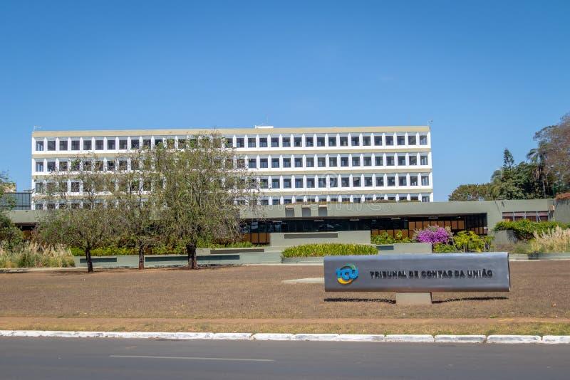 Federal domstol av räkenskap det brasilianska federala ansvarighetkontoret Domstol de Contas da Uniao - TCU - Brasilia, Brasilien arkivbild