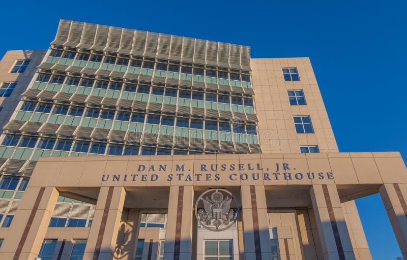 Federal domstolsbyggnad i Gulfport Mississippi royaltyfria foton