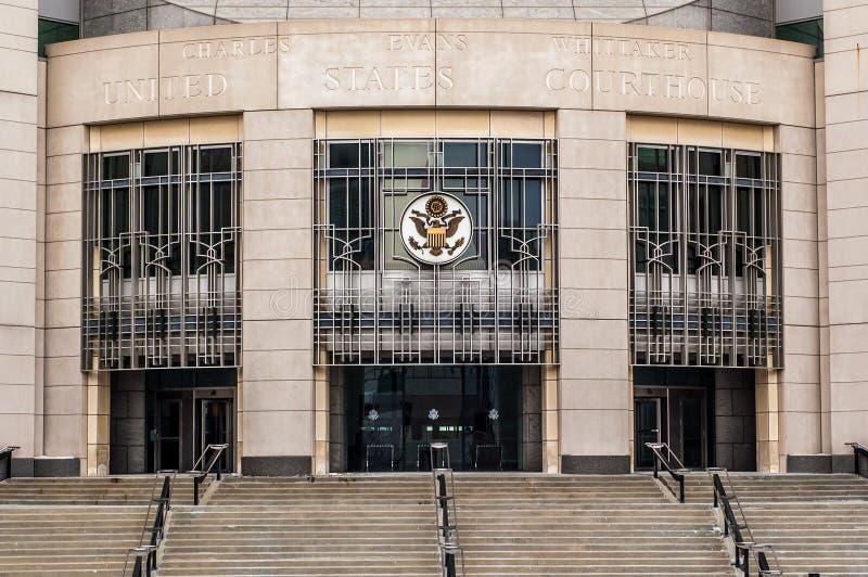 Federal domstolsbyggnad Kansas City Missouri arkivbilder