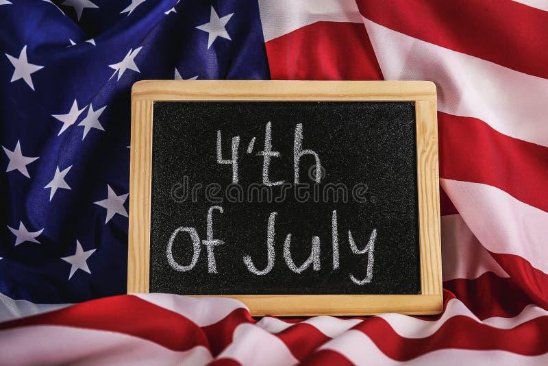 Federal feriebakgrund med USA nationsflaggan royaltyfri fotografi
