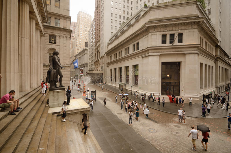 Federal Hall At Wall Street Editorial Image