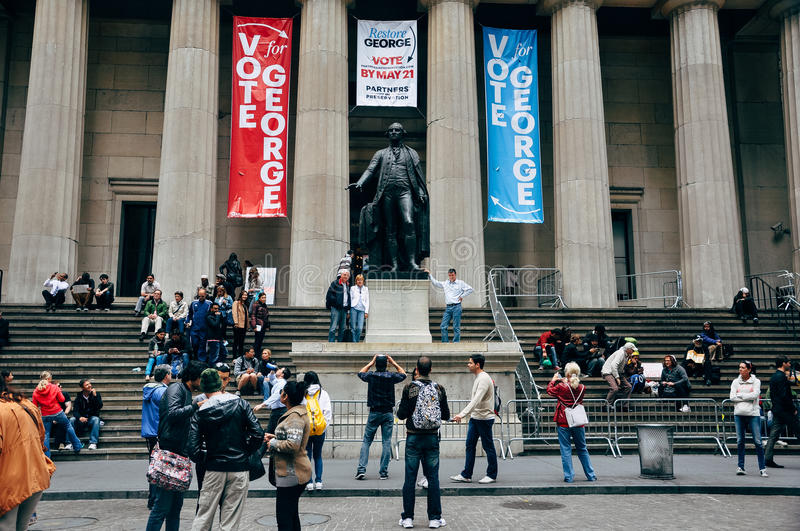 The Federal Hall on Wall Street. stock image