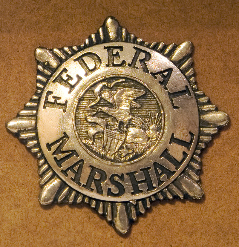 Federal Marshall Badge. Badge for a Federal Marshall royalty free stock photos