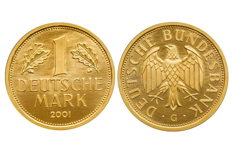 Federal Republic of Germany 1 mark gold coin 2001 royalty free stock images