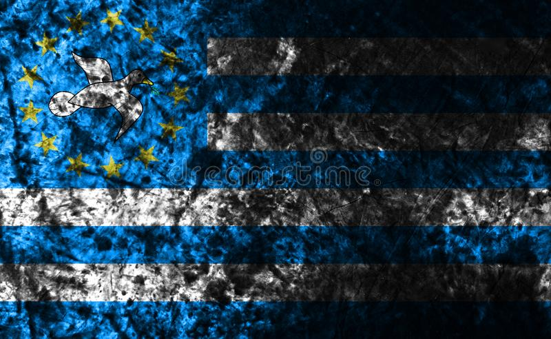 Federal Republic of Southern Cameroons grunge background flag, old flag, dependent territory flag. Federal Republic of Southern Cameroons grunge background flag stock photo