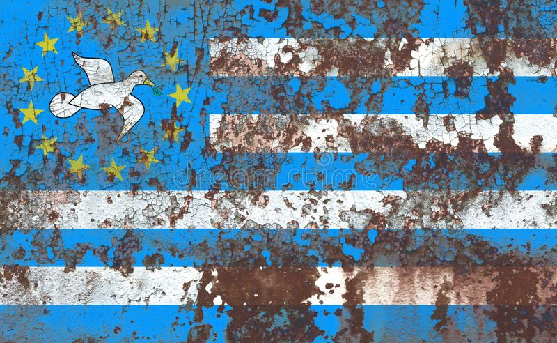 Federal Republic of Southern Cameroons grunge flag, dependent te. Rritory flag stock images