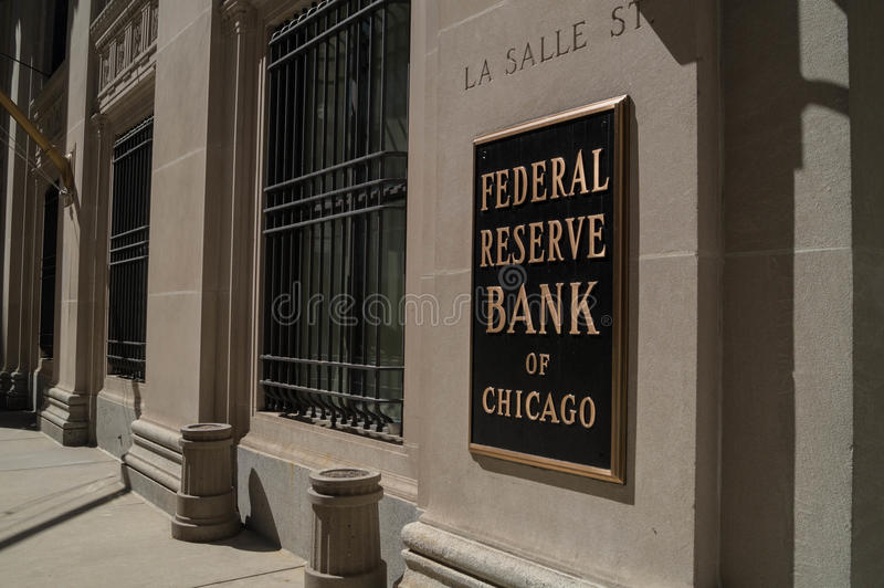 Federal Reserve bank arkivfoton
