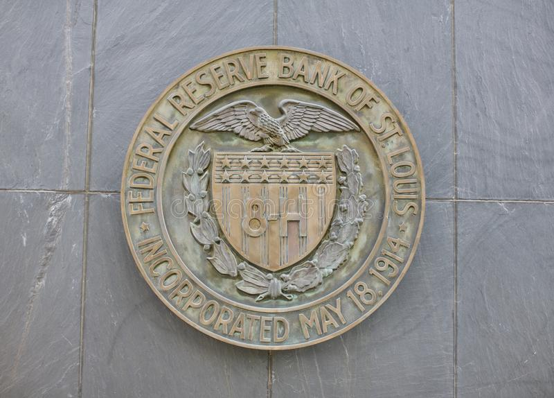 Federal Reserve bank av St Louis royaltyfri foto