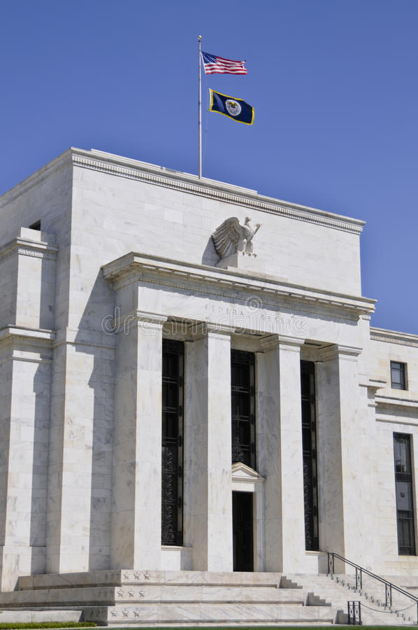 Download Federal Reserve building stock photo. Image of flag, country - 12608380