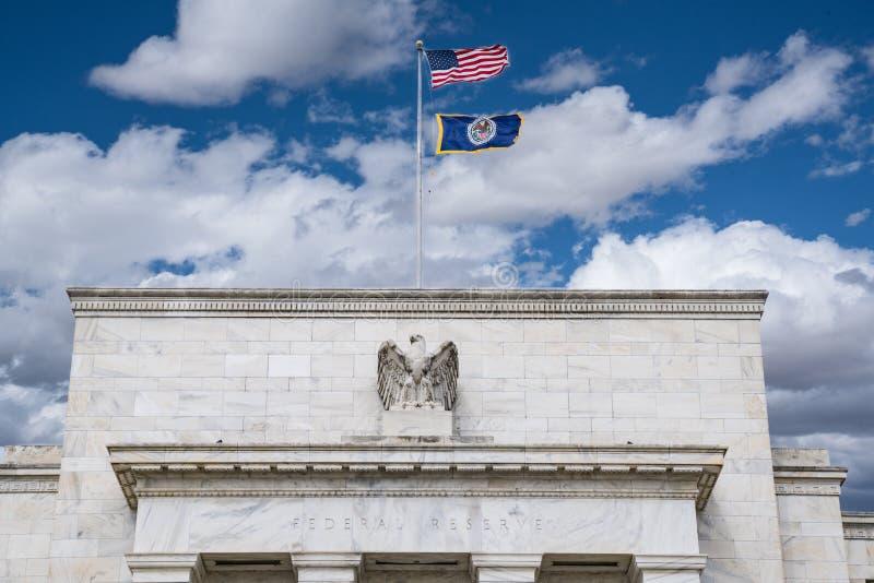 Federal Reserve byggnad royaltyfri fotografi