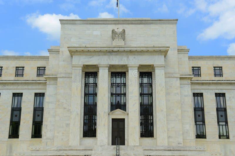 Federal Reserve byggnad i Washington DC, USA royaltyfria foton
