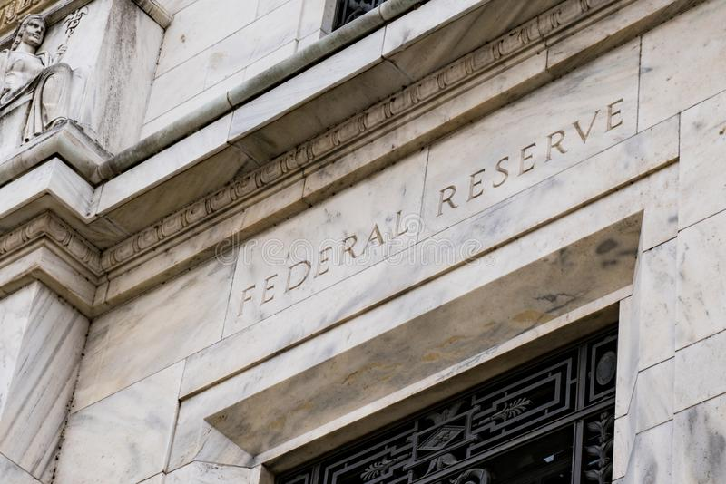 Federal Reserve-Gebäude im Washington DC stockbild
