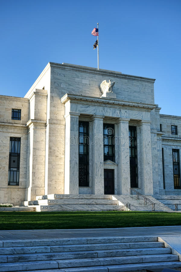 Federal Reserve Headquarters in Washington DC royalty free stock photo