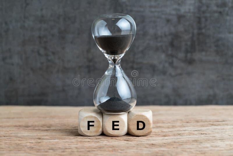 Federal Reserve, obiettivo di FEDERAZIONE e velocità per alzare raggiro di tasso di interesse fotografia stock
