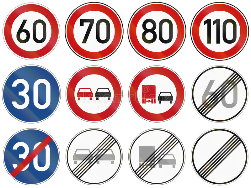 Federal Road Restrictions In Germany Stock Illustration