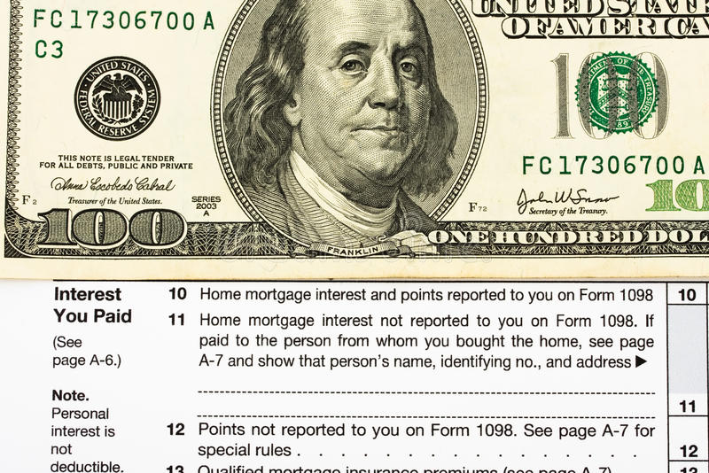 Federal Tax Forms For Items Deductions Stock Photo