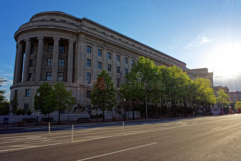 Federal Trade Commission Building in Washington DC. Federal Trade Commission Building is located in Washington D.C., USA. It is the headquarters for Federal royalty free stock photo