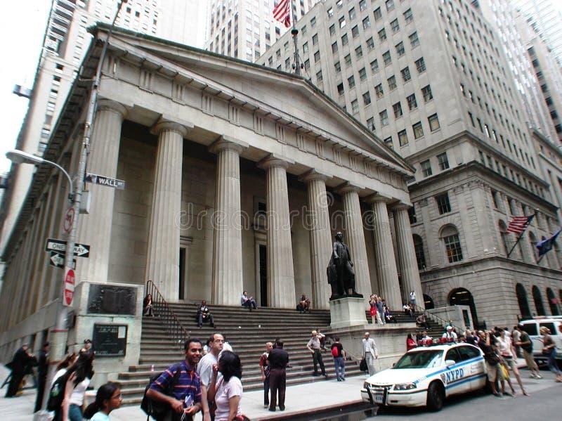 Federale Zaal op Wall Street in de Stad van New York royalty-vrije stock foto's