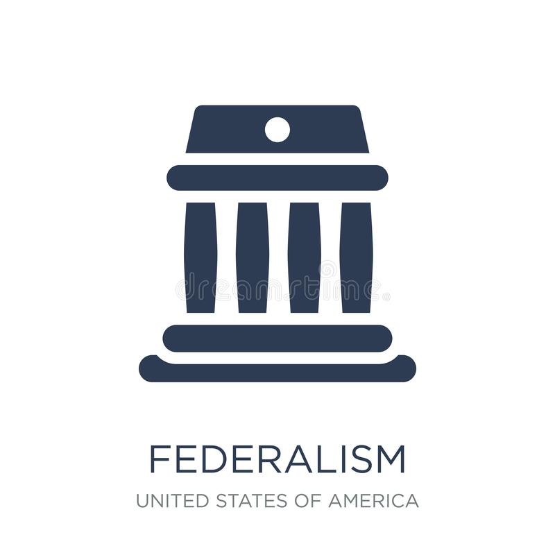 federalism icon. Trendy flat vector federalism icon on white background from United States of America collection stock illustration