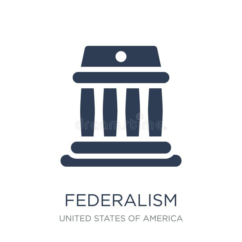 federalizm ikona Modna płaska wektorowa federalizm ikona na białym bac ilustracji