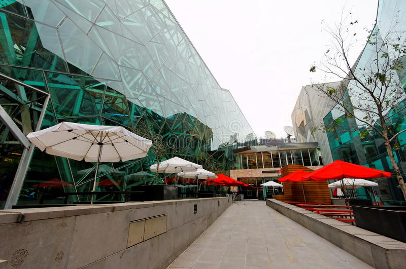 Federation Square Alfresco Dining Royalty Free Stock Photo