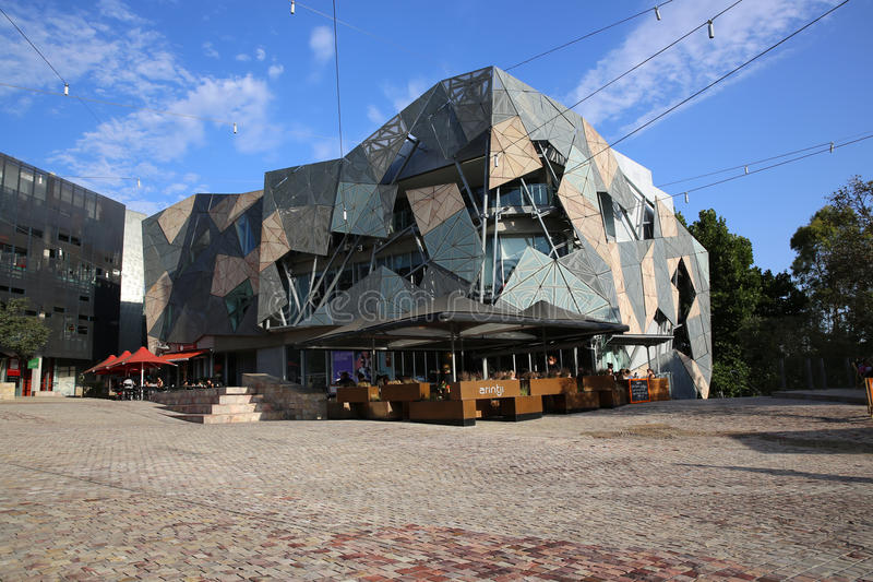 Federation Square. In Melbourne. Australia stock photos