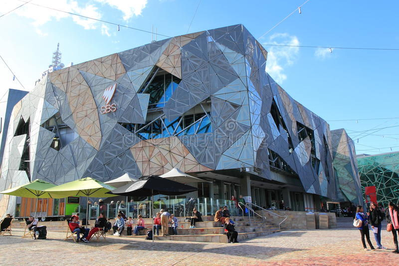 Federation Square contemporary architecture Melbourne royalty free stock photos