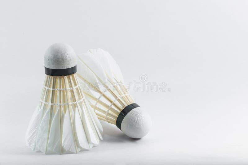 Federball des Badminton zwei stockfotos