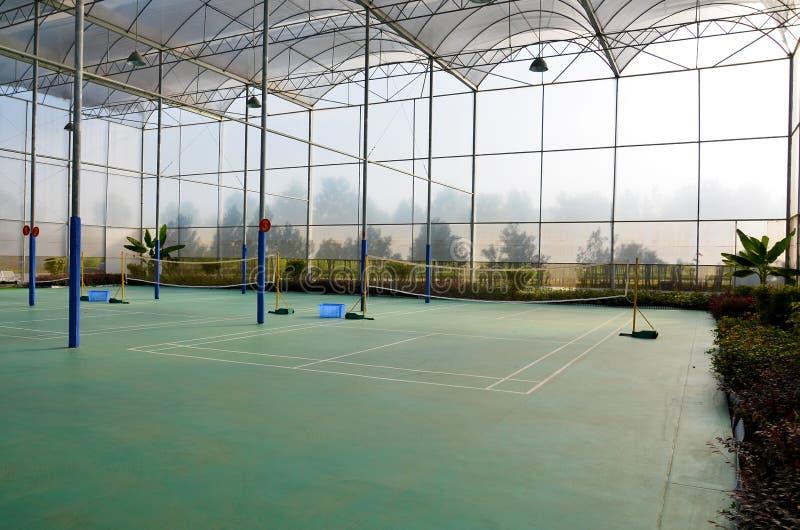 Federballplatz stockbilder