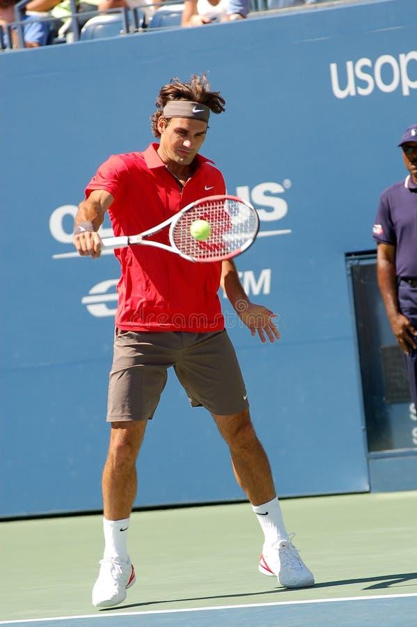 Federer Roger agli Stati Uniti apre 2008 (2) immagini stock libere da diritti