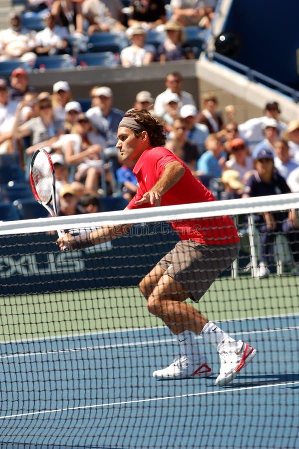 Federer Roger aux USA ouvrent 2008 (20) image libre de droits