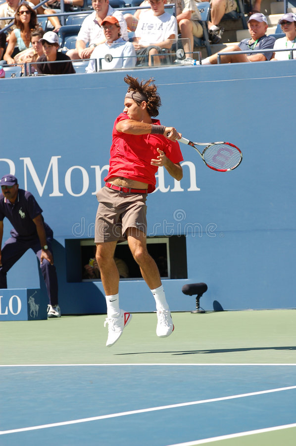 Federer Roger Champion US Open 2008 (01) Editorial Photography