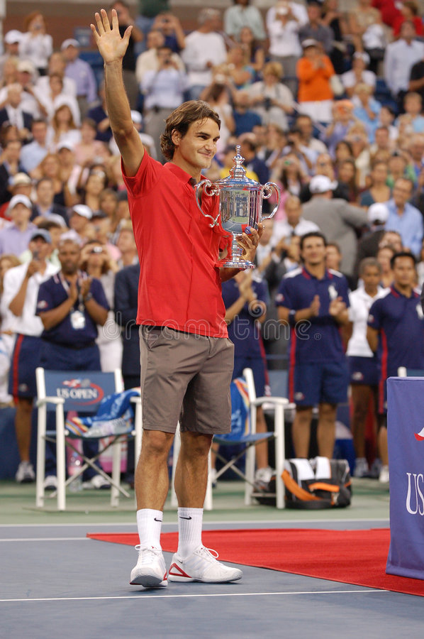 Federer won US Open 2008 (176) royalty free stock photos