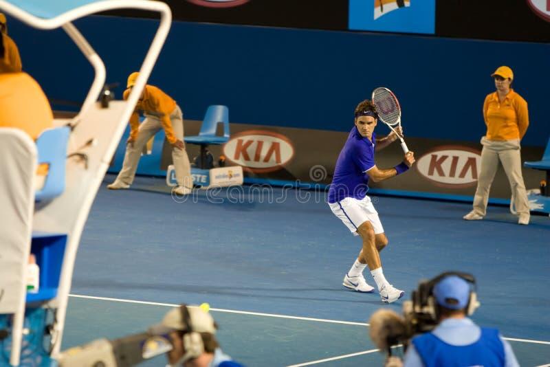 federerspelareroger tennis royaltyfria foton