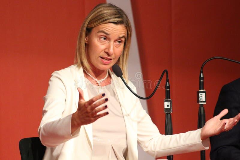 Federica Mogherini, vice-président de Commission européenne photos libres de droits