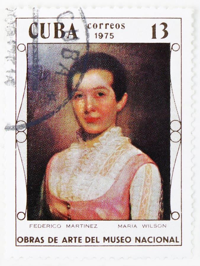 Federico Martinez : Maria Wilson, peintures du serie de Musée National, vers 1975 image libre de droits