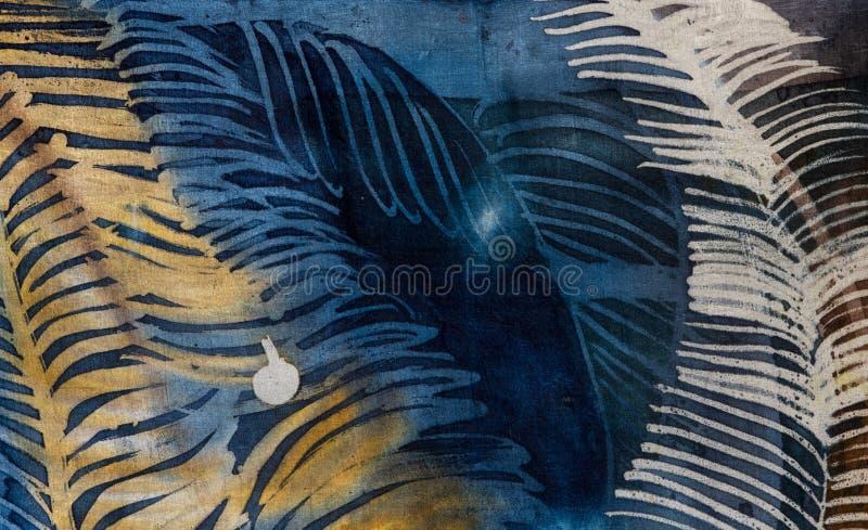 Federn, hei?er Batik, Hintergrundbeschaffenheit, handgemacht auf Seide stockfotos