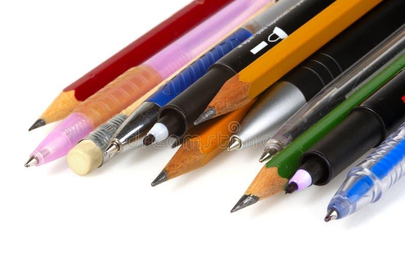 Federn und Bleistifte 2 stockfotos