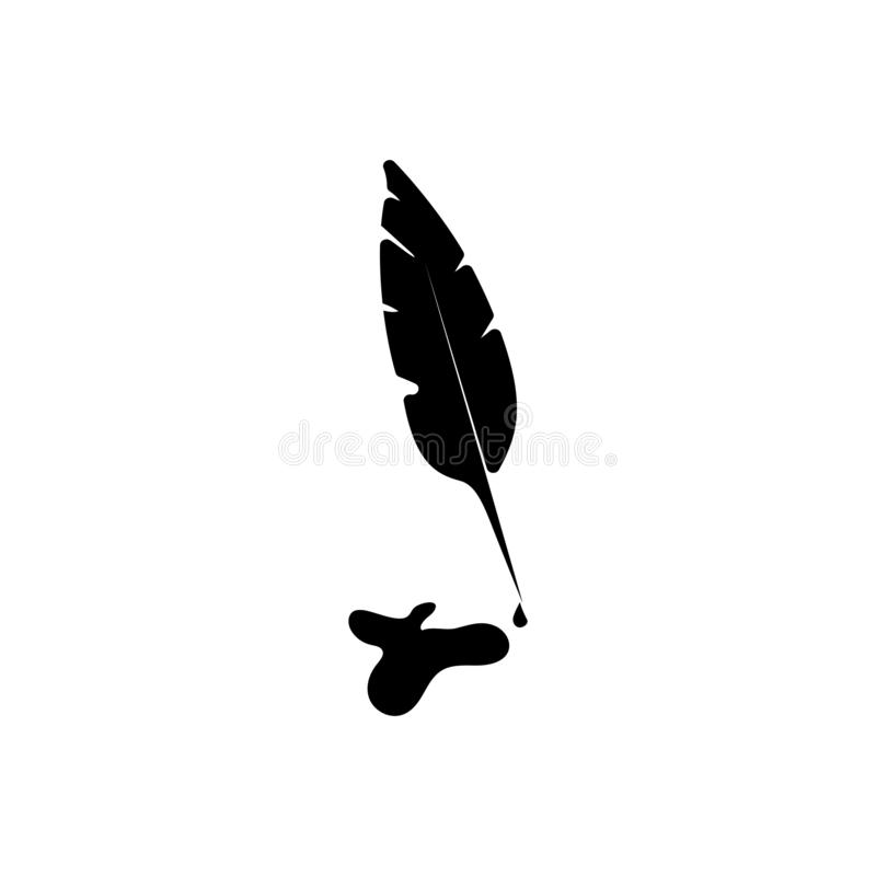 Federstift-Vektorikone, Tinte stock abbildung