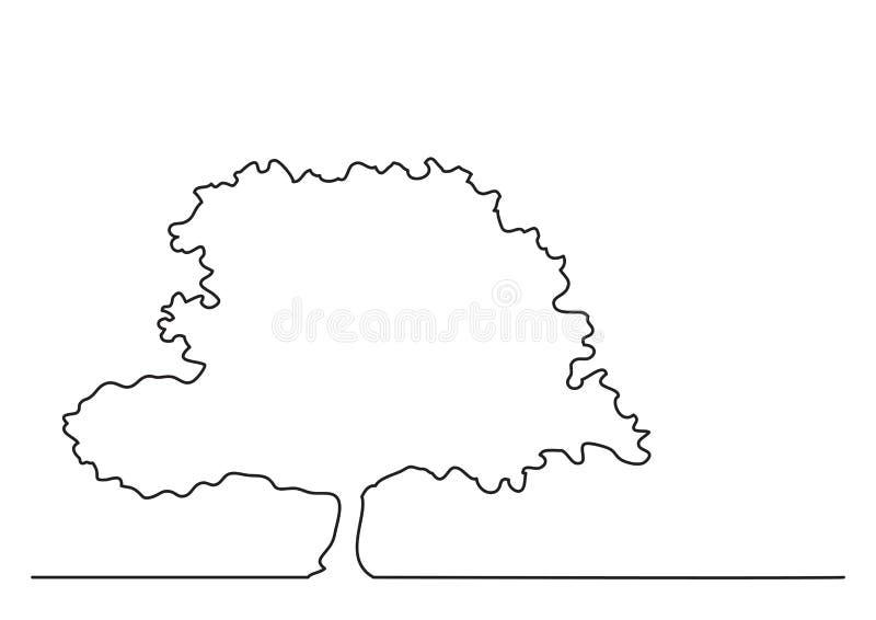 Federzeichnung der einzelnen Zeile des Baums vektor abbildung