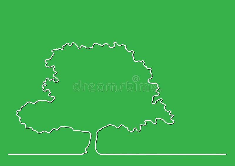 Federzeichnung der einzelnen Zeile des Baums stock abbildung