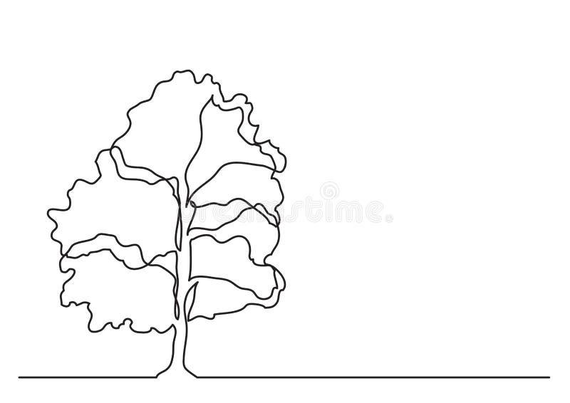 Federzeichnung der einzelnen Zeile des Baums lizenzfreie abbildung