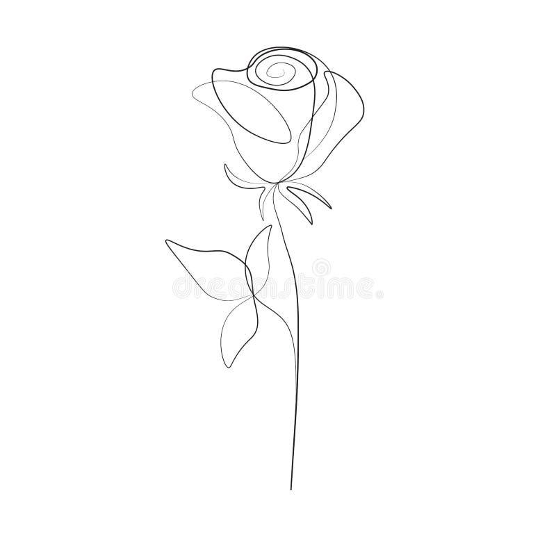 Federzeichnung des Druckes einer stieg Blume, Vektorillustration vektor abbildung