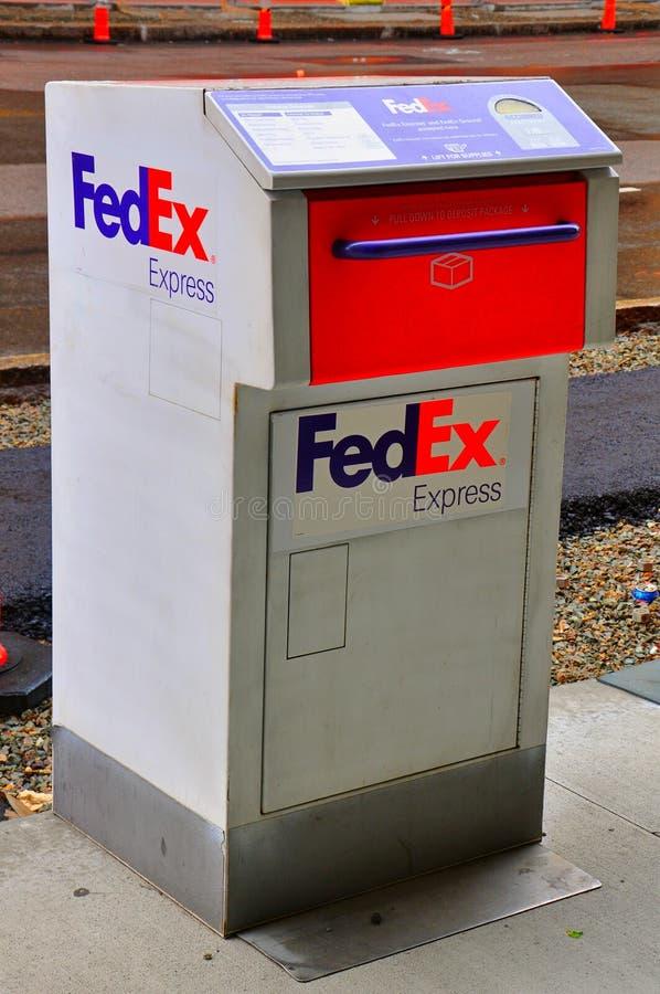 FedEx Express-brievenbus royalty-vrije stock foto's